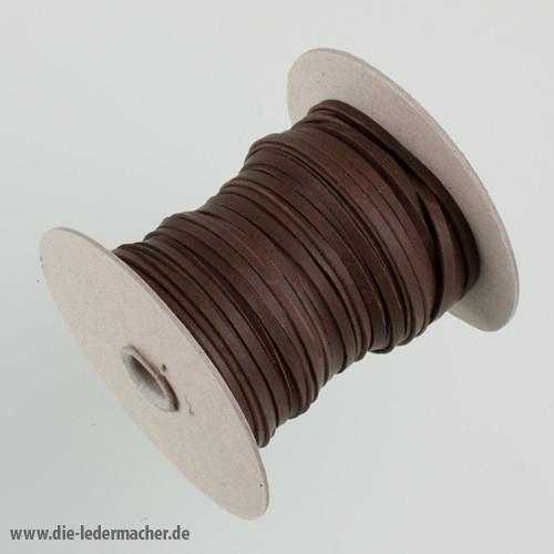 Känguru Flechtband, braun - Meterware, 3 mm