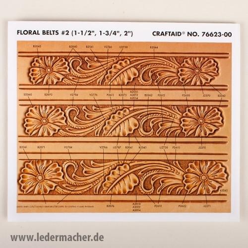 Craftaid Punzierschablone Floral Belt - 38 mm
