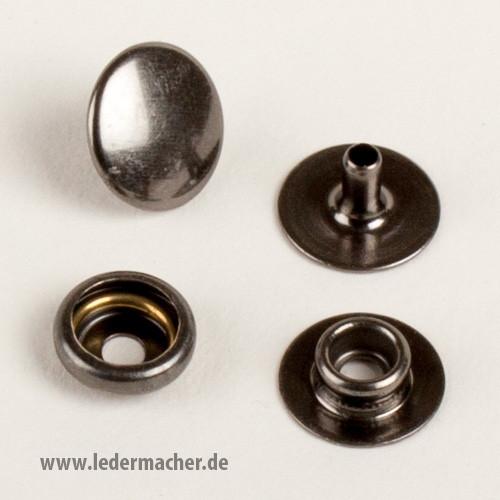 Druckknopf mit Ringfeder - 12,5 mm - anthrazit