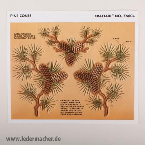 Craftaid Punzierschablone Pine Cones
