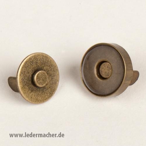 Magnetverschluß - altmessing - 20 mm