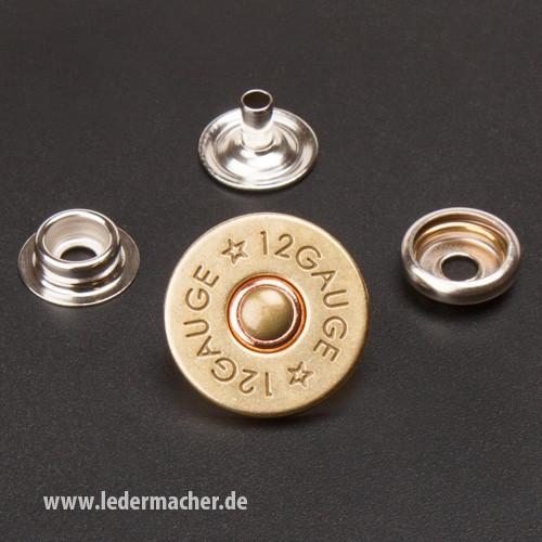 Druckknopf mit Motiv - Bullet