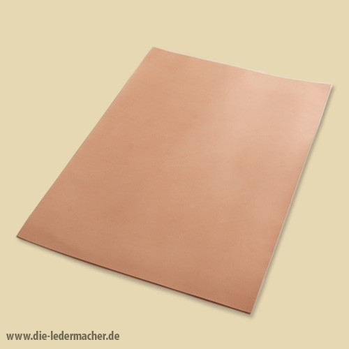 Premium Blankleder 3,0 - 3,5 mm - natur Zuschnitt: 21x30 cm
