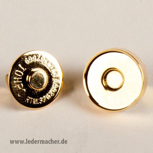 Magnetverschluß - goldfarben - 20 mm