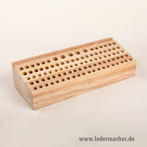 Punziereisenblock aus Holz - für 97 Werkzeuge
