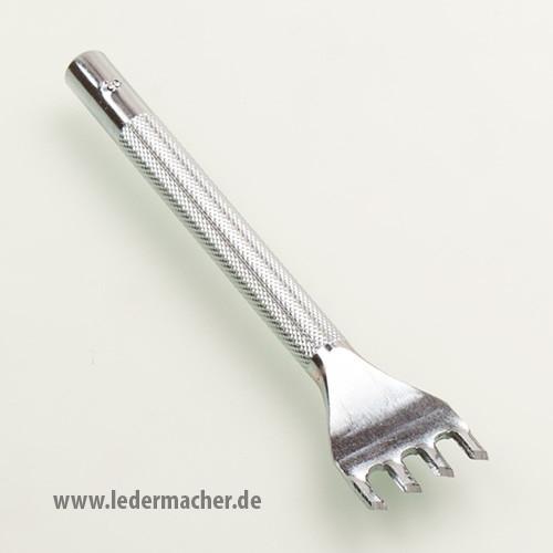Schlageisen für Flechtlöcher - 4 Zähne - 45 Grad gedreht