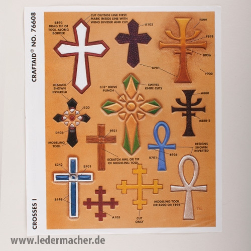 Craftaid Punzierschablone Crosses I