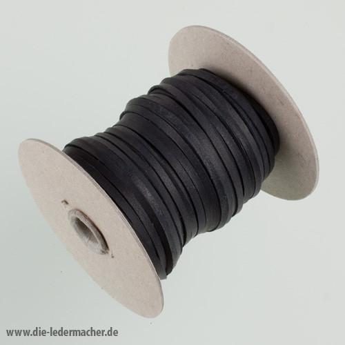 Känguru Flechtband, schwarz - Meterware, 3 mm