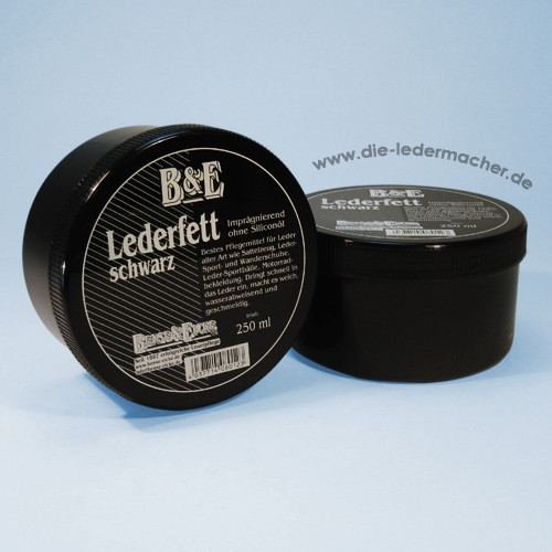 B&E Lederfett, schwarz, 250 ml