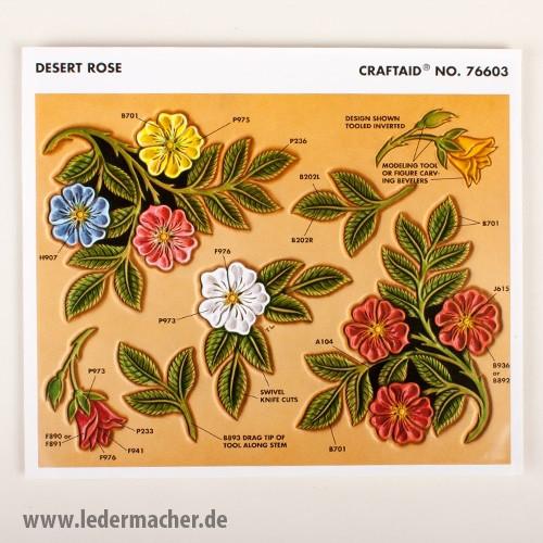 Craftaid Punzierschablone Desert Rose