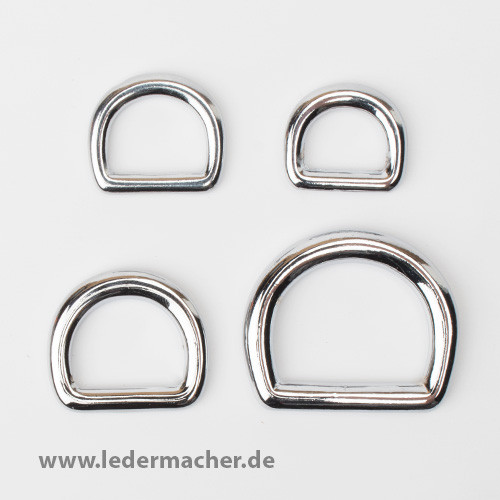 D-Ring vollmesing / chrome