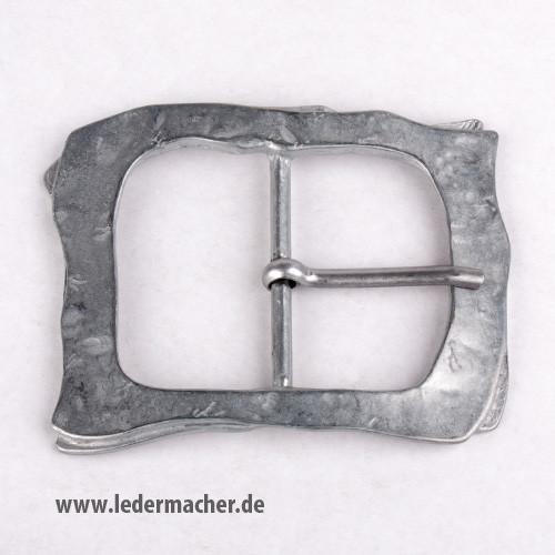 Gürtelschnalle 60 mm - Antikoptik - altsilber