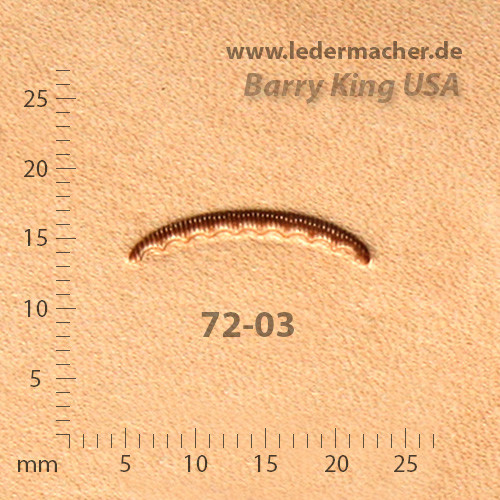 Barry King USA - Veiner - Lined & Scalloped - Size 03