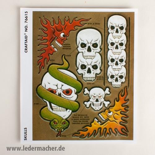 Craftaid Punzierschablone Skulls