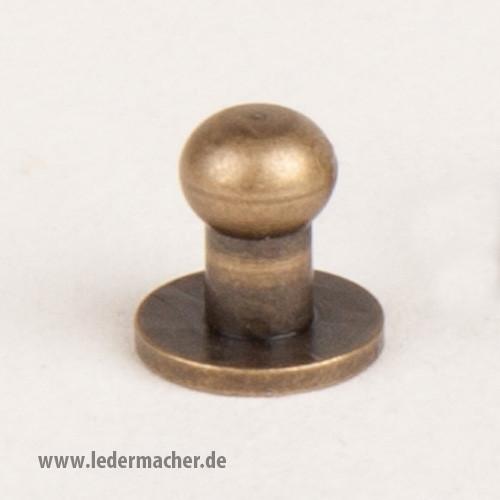 Kopfschraubniete 5 mm antikmessing