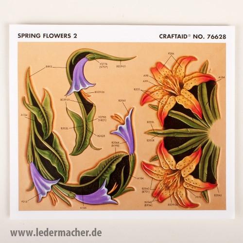 Craftaid Punzierschablone Spring Flowers 2