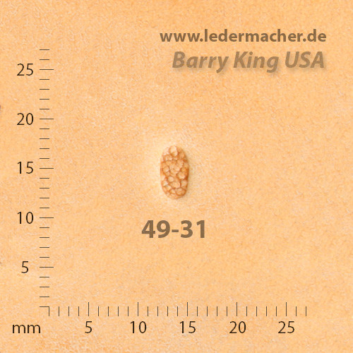 Barry King USA - Pebble Grounder Oval - Size 1
