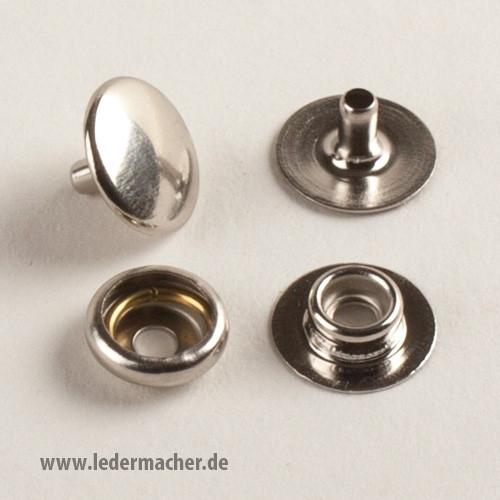 Druckknopf mit Ringfeder - 15 mm - Edelstahl