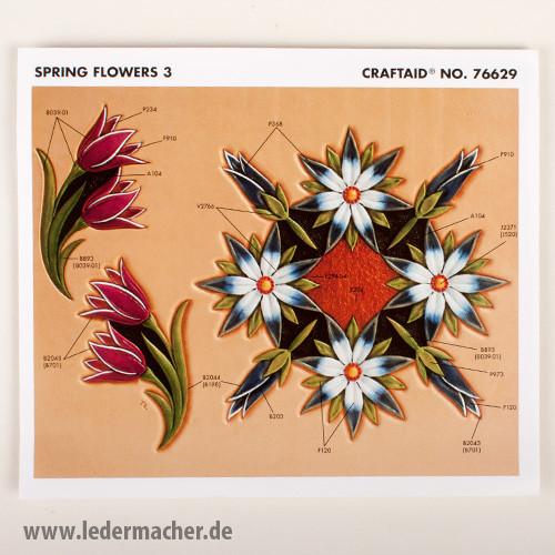 Craftaid Punzierschablone Spring Flowers 3