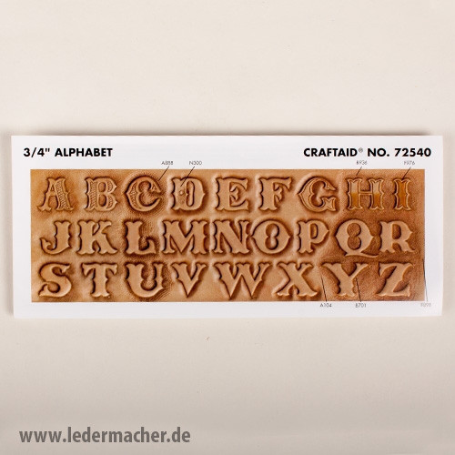 Craftaid Punzierschablone Alphabet - 19 mm