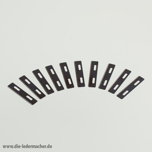 10 Wechselklingen - für Schärfmesser und Lederbandschneider