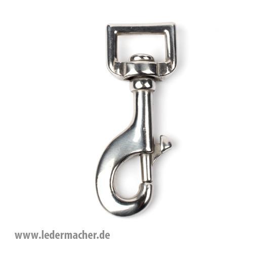 Federkarabiner - eckiger Durchlass - Edelstahl - 19mm