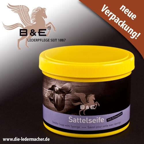 B&E Sattelseife mit Schwamm, 500 ml