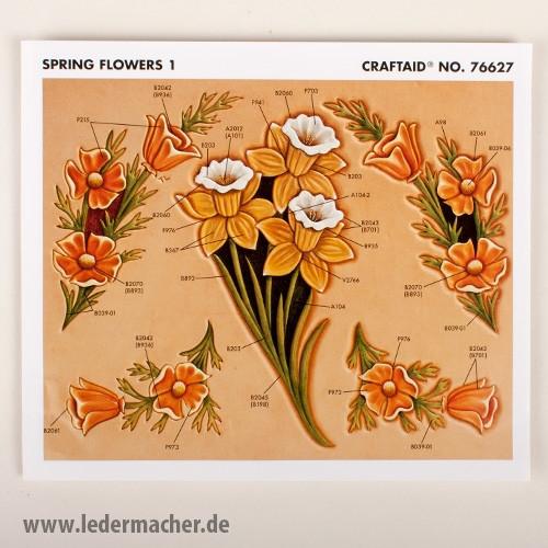 Craftaid Punzierschablone Spring Flowers 1