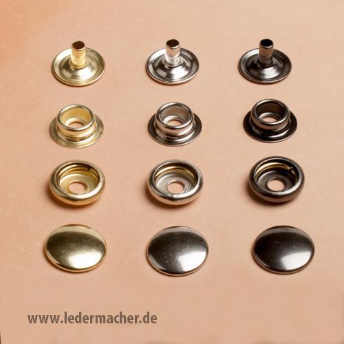 Druckknopf mit Ringfeder - 15 mm - anthrazit