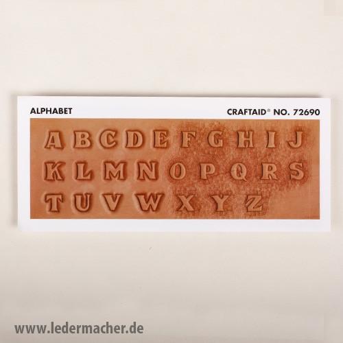 Craftaid Punzierschablone Alphabet - 13 mm