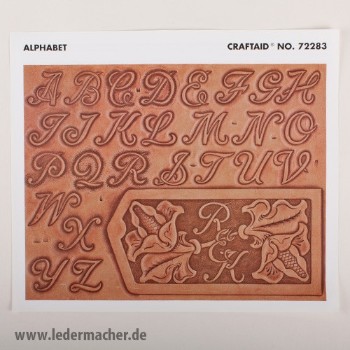 Craftaid Punzierschablone Alphabet 25 mm