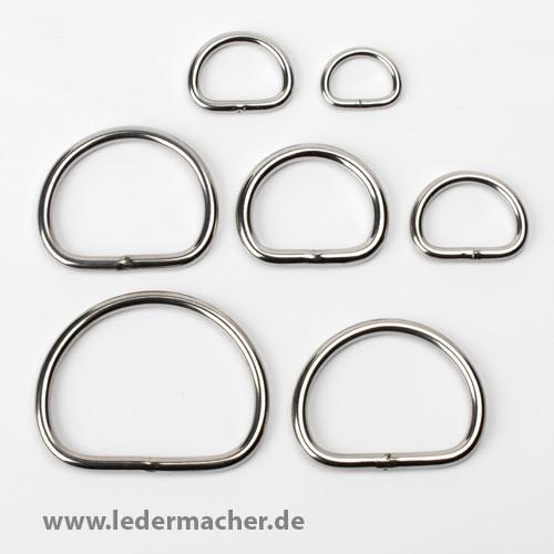 D-Ring - Edelstahl - verschweißt