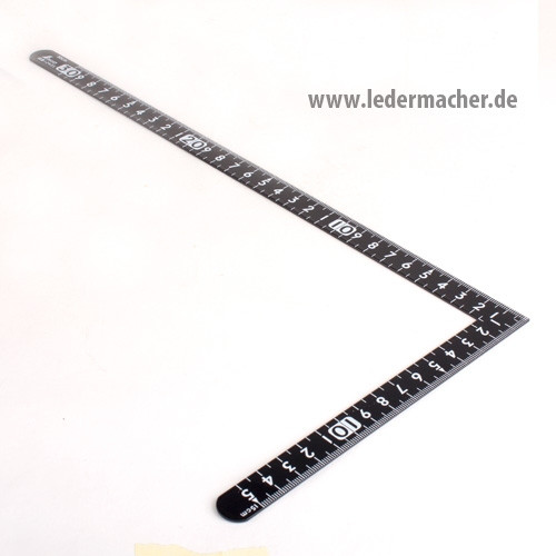 japanischer Stahlwinkel / Lineal - 30 x 15 cm