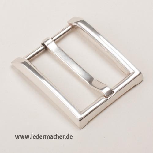 moderne Gürtelschnalle 40 mm - versilbert