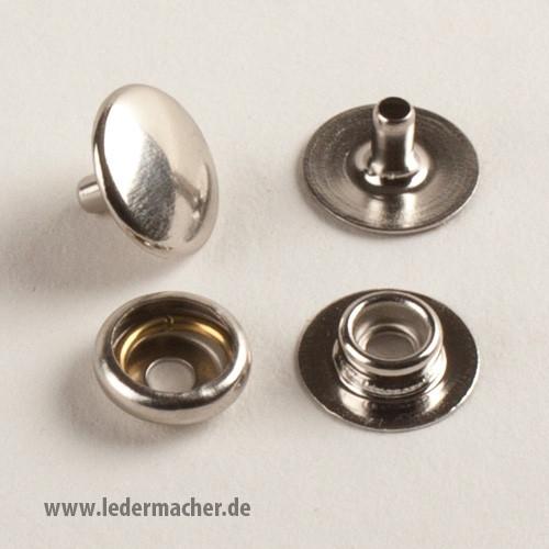 Druckknopf mit Ringfeder - 12,5 mm - Edelstahl