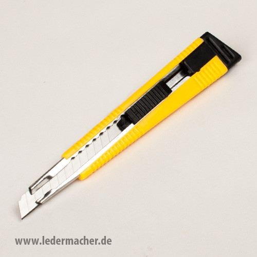 Cuttermesser - 9 mm Klinge - Messerführung aus Metall