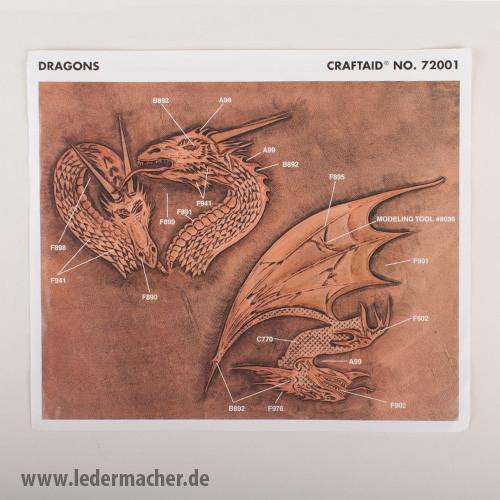 Craftaid Punzierschablone Dragons