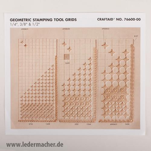 Craftaid Punzierschablone Geometrisches Raster