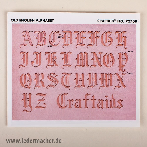 Craftaid Punzierschablone Alphabet Old English - 35 mm