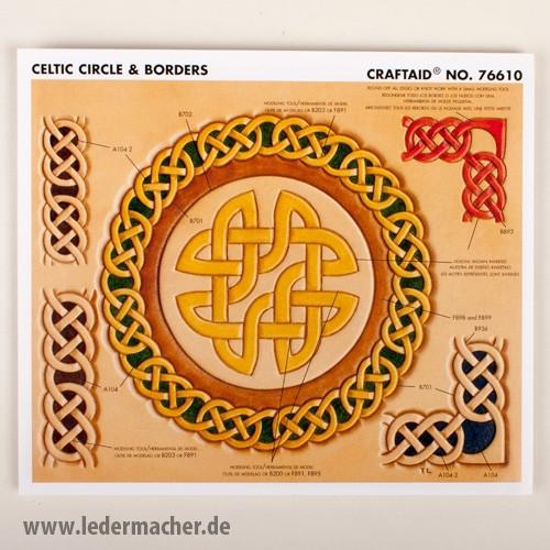 Craftaid Punzierschablone Celtic Circle & Borders